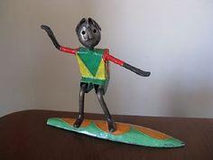 Surfing Surfer Sculpture Statue by Manuel Felgurerrez