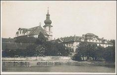 Břevnov - klášter (1935) Praha, Old Pictures, Czech Republic, Taj Mahal, Sketch, Places, Painting, Travel, Historia