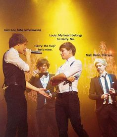 """""""damn, that ass..."""" :'D oh my gosh, i'lm crying! ahahhahaahhaaaa! <3 A++ harry styles, niall horan, zayn malik, louis tomlinson, liam payne, one direction, 1D"""