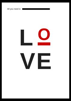 love, plakat, dity, walentynki