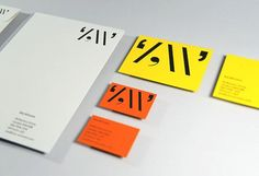 """""""This stationery designed for writer and journalist Zoe Williams was foil blocked in gloss black on to a mixture of Colorplan and Fenner papers. The 'Z W' logo, is constructed from punctuation marks"""""""