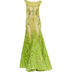 Satinee's collection - Haute couture 2012 ❤ liked on Polyvore featuring dresses, gowns, long dress, green, green evening dress, long green evening dress, couture gowns, couture evening dresses and long green dress
