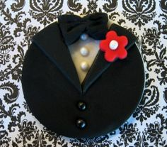 Bride & Groom Cupcake, Cake and Cookie Toppers. Red or White Flowers.  Set of 12 (1 dozen) 6 Bride, 6 Groom.