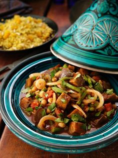 Vegetable tagine with vegetables and chickpeas (Morocco)