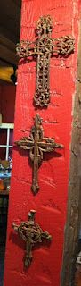 set of three iron crosses at pepperberry's