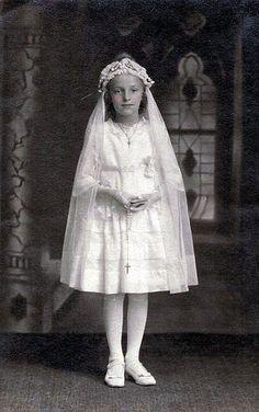 vintage first communion photo