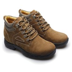New Style 8cm Brown Boot lifts shoes2