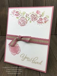Forever Lovely by Charmaine Metzinger for Stamping to Share Demo Meeting Swaps Fun Fold Cards, Cool Cards, Ways To Say Sorry, Sorry For Everything, Under My Umbrella, Get Well Cards, Card Tutorials, Sympathy Cards, Embossing Folder