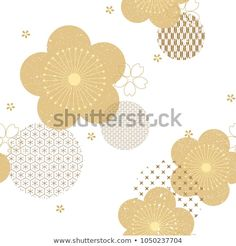 Find Floral Background Japanese Pattern Vector Gold stock images in HD and millions of other royalty-free stock photos, illustrations and vectors in the Shutterstock collection. Thousands of new, high-quality pictures added every day. Graphic Design Books, Graphic Design Pattern, Japanese Graphic Design, Graphic Design Layouts, Graphic Design Typography, Graphic Design Illustration, Design Posters, Design Illustrations, Brochure Design
