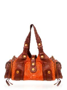 38e306454f CHLOE Silverado Python Snakeskin Shoulder Bag Leather Brown $850  http://www.boutiqueon57