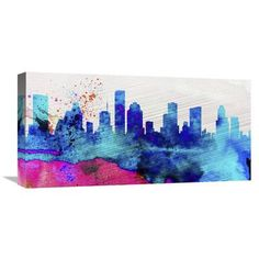 Naxart 'Houston City Skyline' Graphic Art on Wrapped Canvas Size: