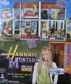 Disney Hannah Montana Malibu Beach House Playset w 88 Play Pieces (2008 ToysRUs Exclusive) by Disney/Play Along. $469.95. Brand new in the box comes with a Hannah Doll in the box & 88 pieces of furniture so the house is fully furnished. This was a Toys R Us Exclusive and a rare item to find now! Thanks.