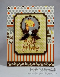 Wizard's Hangout: 3 Babycakes Baby Layouts and Card... a Gift for a New Mom (of baby #2)