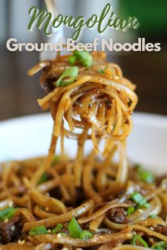Ground Beef Recipes For Dinner, Quick Dinner Recipes, Dinner Healthy, Ground Beef Noodle Recipe, Ground Beef Recipes Asian, Healthy Eating, Ground Beef Dishes, Meat Recipes, Asian Recipes