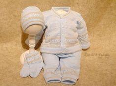 Knitting Patterns Christening Baptism   ... Knit Set Special Occasion Baby Clothing Christening Baptism Isabella