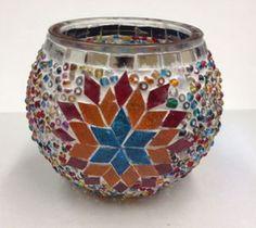 Turkish Mosaic glass Candle holder