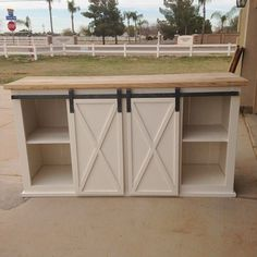 Like — This x sliding barn door console is one of my...