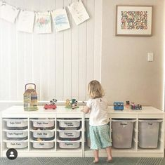 Our Playroom Toy Storage Decals fit perfectly to the popular IKEA Trofast toy or. - Ikea DIY - The best IKEA hacks all in one place Ikea Kids Playroom, Ikea Hack Kids, Playroom Organization, Organization Ideas, Ikea Hacks, Ikea Trofast Storage, Trofast Hack, Ikea Toys, Konmari
