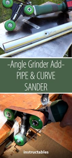 Angle Grinder Add: Pipe / Curve & Belt Sander - No Tool Mount - Angle Grinder Add: Pipe & Curve Sander - No Tool Mount - Metal Tools, Wood Tools, Diy Tools, Woodworking Power Tools, Woodworking Books, Youtube Woodworking, Woodworking Videos, Woodworking Projects, Belt Grinder
