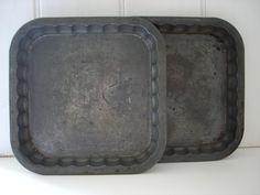vintage baking tins