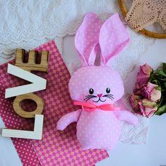 Króliczek do tulenia - Olcia Sewing Toys, Baby Toys, Tweety, Hello Kitty, Babe, Bunny, Easter, Pink, Top Toddler Toys