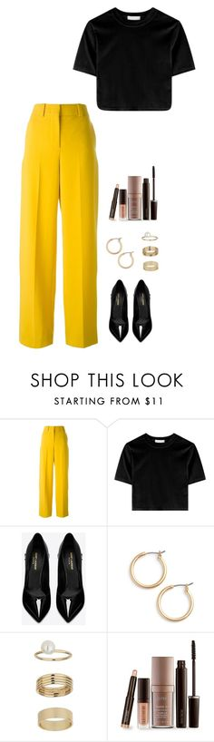 """Untitled #1032"" by h1234l on Polyvore featuring Cédric Charlier, Yves Saint Laurent, Nordstrom, Miss Selfridge and Laura Mercier"
