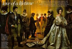 #AnnieLeibovitz- Love of A Lifetime: The Fateful Night ( #VOGUE ) with #RobertoBolle as Romeo, #CocoRocha as Juliet, #GeorgeMerrick as Mercutio, #PabloSchreiber as Tybalt, and #GeorgePsomas. #ChristianLacroix #Couture !