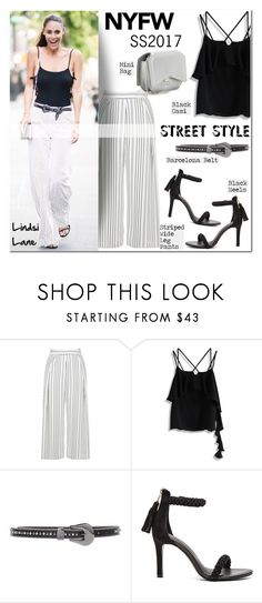 """""""NYFW Street Style SS2017/Lindsi Lane"""" by helenevlacho ❤ liked on Polyvore featuring Topshop, Chicwish, B-Low the Belt, Joie and Givenchy"""