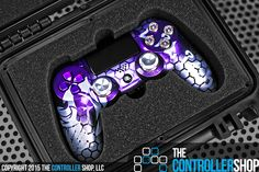 Stunning purple and silver PS4 controller. Design your own masterpiece at http://tcs.bz/lap.php