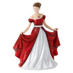 Royal Doulton July Ruby Birthstone Petite Figurine NEW IN THE BOX