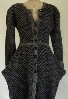 Herringbone Point Coat - to knit for myself; pattern by RedHeart