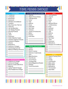 Did you just book that last minute vacation? Smart Travel Packing Tips. These packing hacks are sure to change the way you travel. Travel Packing Checklist, Printable Packing List, Packing List For Vacation, Travel Essentials, Vacation Checklist, Road Trip Checklist, Moving Checklist, Europe Packing, Traveling Europe