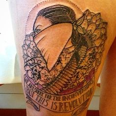 """This tat that's """"so sorry for the inconvenience"""".   23 Feminist Tattoos That Totally Shatter The Patriarchy"""