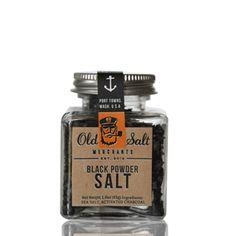 Black powder salt by Old Salt Merchants #packaging