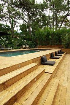for designing the right backyard swimming pool Pergola Designs, Deck Design, Pool Designs, Pergola Kits, Backyard Designs, Pergola Ideas, Above Ground Pool Decks, In Ground Pools, Rectangle Above Ground Pool