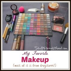 What's in my makeup bag? Here's a list of my favorite makeup products (most of which are available at drug stores!)