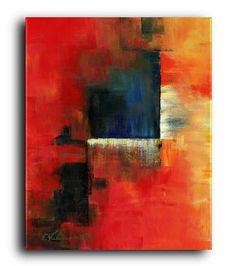 Gallery Canvas and Fine Art Prints Colorful Red Blue Orange