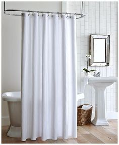 Extra Long Hookless Shower Curtain With Snap Liner. Peacock Alley Shower  Curtain Vienna
