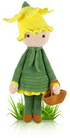 Daffodil Nancy - crochet amigurumi pattern by Zabbez / Bas den Braver