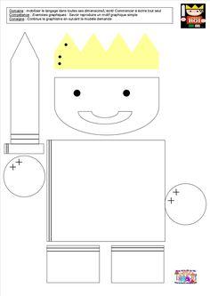 Le tout petit roi - graphisme dans le roi, la reine, le soldat et le prince - La classe de Petite Section de MC