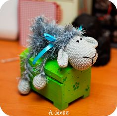 gehäkelte Schafe