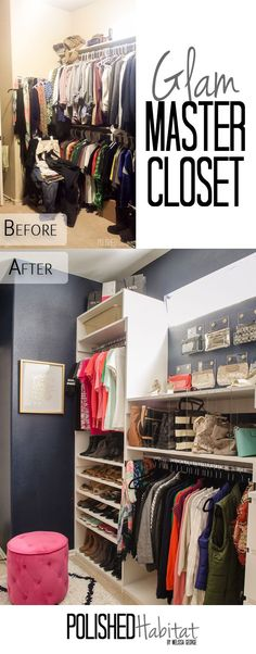 We DIYed our way to a complete dream closet. I can't even imagine how much this would have cost if we hired someone. Click to see the before photos and all our money-saving ideas.