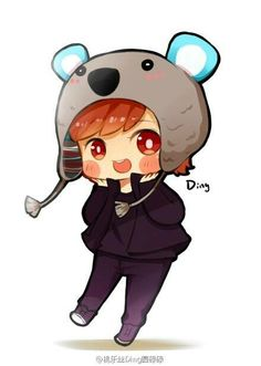 Cute Lulu ♥ #LuHan #Exo-m #FanArt