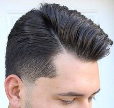 Mens Hairstyles Side Part, Men's Hairstyles, Pearl Earrings, Hair Styles, Fashion, Men Hair Cuts, Pearl Drop Earrings, Male Hairstyles, Pearl Studs