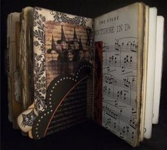 Halloween Vintage Book Journal... lots of pics.  via Divider4 Back