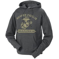 Men's and Lady's Marines Hoodie - Semper Fidelis Retro USMC Hooded Sweatshirt Marine Sister, Once A Marine, My Marine, Marine Corps Shirts, Usmc Clothing, Marine Outfit, Usmc Quotes, Marine Quotes, Quotes Quotes