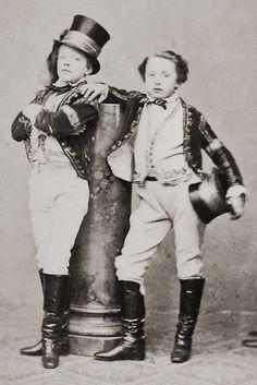 Children of Circus Renz, Vienna 1860s.  Photographer: August Mansfeld.