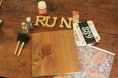 Simply Healthy: DIY Race Bib and Medal Display
