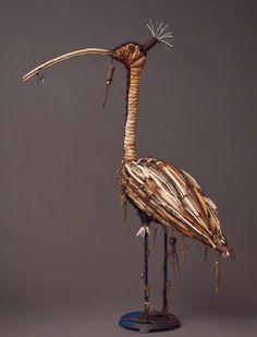 """""""TILIA"""".  Geoffrey Gorman.  Wood, cloth, metal, found objects"""