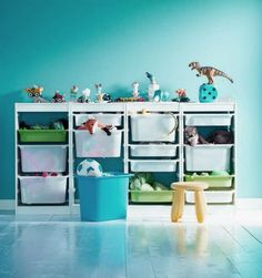 I need this Ikea trofast storage system! Toys are getting out of control.. Ellie's room